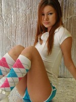 Kori in knee high socks