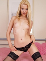 Brooke Logan in black lingerie